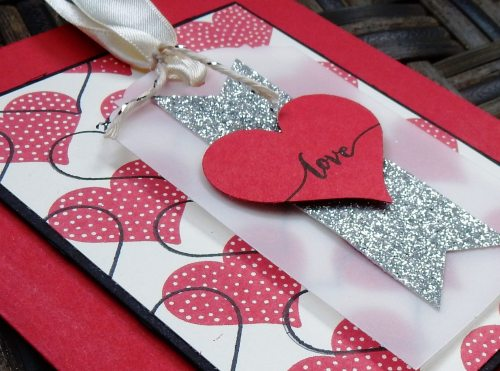 Love Tag Valentine by Wendy Lee, #creativeleeyours, Stampin' Up!, hello life stamp set