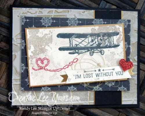 Lost without you by Wendy Lee, #creativeleeyours, Stampin' Up!, Sky is the Limit stamp set, Going global stamp set, 2016 Jan FMN class, hand made card
