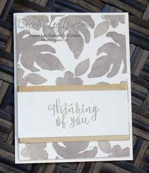 Botanical Blooms Thinking of You by Wendy Lee, Feb 2016 FMN class, #Creativeleeyours, Stampin' Up!, Paper Pumpkin Bonus card