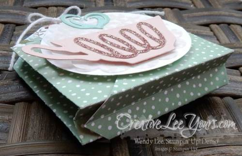 A nice cuppa tea pouch by Wendy Lee, #creativeleeyours, Stampin' Up!, tutorial, Oppprtune A Tea
