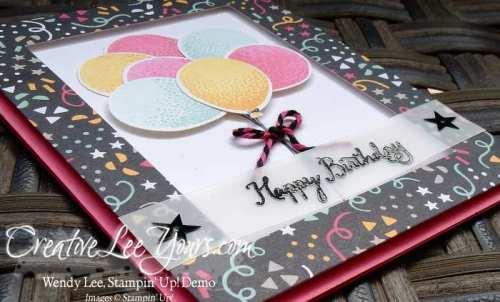 Balloon Celebration by Sheila Tatum, #creativeleeyours, Stampin' Up!, Diemonds team swap