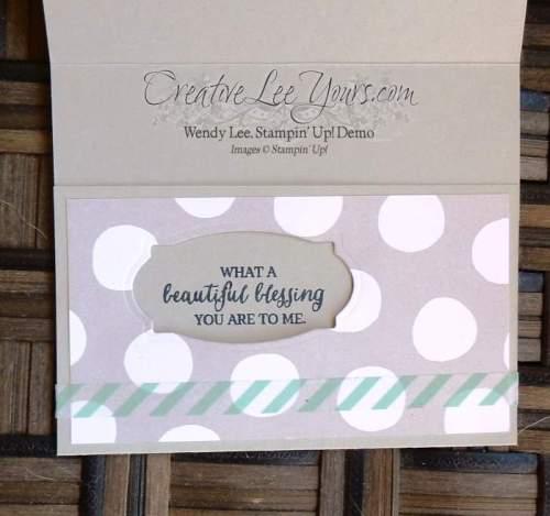 Peek-a-boo Hidden Message by Wendy Lee, #creativeleeyours, Stampin' Up!, rose wonder stamp set, March 2016 FMN class