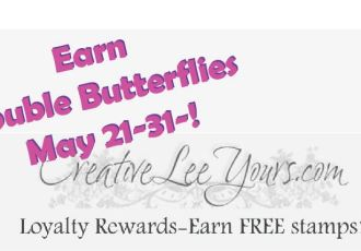 double butterflies by wendy lee, #creativeleeyours, Stampin' Up!