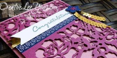 Detailed Floral Congratulations by Wendy Lee, Stampin Up, Detailed Floral thinlits, Floral Phrases stamp set, stamping, hand made card