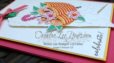 Weather Together Celebrate by Wendy Lee, Stampin Up, stamping, hand made cards, #creativeleeyours, July 2016 FMN class