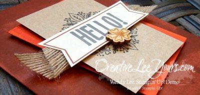 august 2016 bold botanicals paper pumpkin kit by Wendy Lee