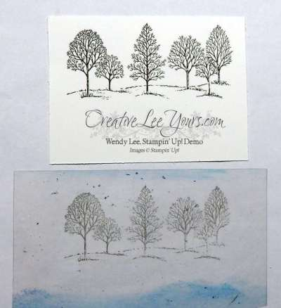 Lovely Reflection by Wendy Lee, Stampin Up, Lovely as a Tree stamp set, Wetlands stamp set, Layering Circles Framelits, #creativeleeyours, Hand Made Cards, September 2016 FMN class