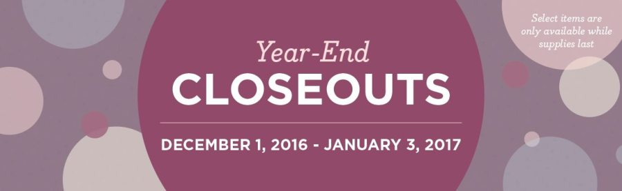 year-end-closeouts-2016, Stampin Up, #creativeleeyours, wendy lee