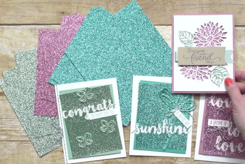 Glimmer paper stack, Stampin Up, #SAB2017, Wendy Lee, #creativeleeyours, Creatively Yours