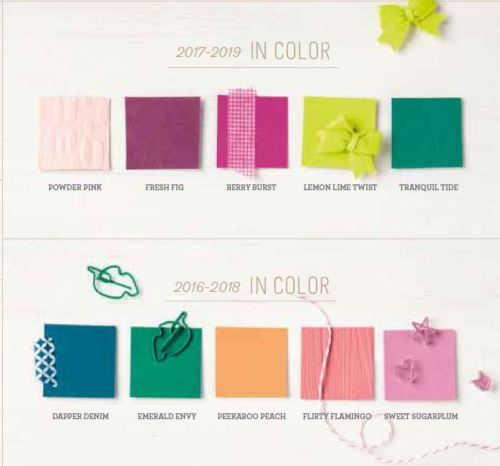 2017-2018 new catalog in color collection, Stampin Up, #creativeleeyours, creatively yours, wendy lee