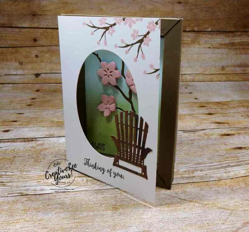 Shadowbox by Wendy Lee,stampin up, stamping, rubber stamps, handmade card, colorful seasons stamp set, sunshine saying stamp set, seasonal layers thinlits, layering ovals framelits,july 2017 fmn class