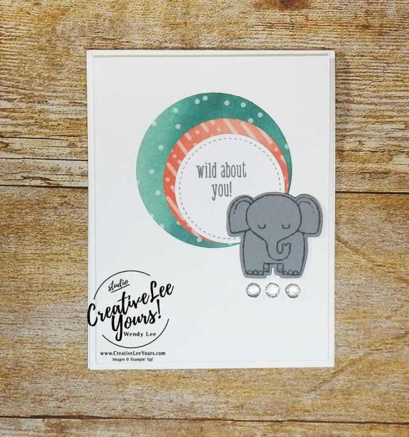 A Little Wild Stamp Set,Little Loves Framelits Dies,Stampin Up,stamping, handmade,wendy lee,#creativeleeyours,cute baby animal,