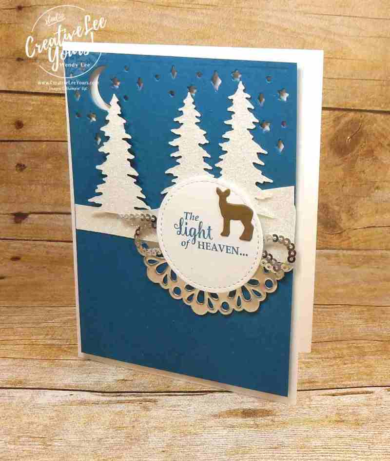 Light of Heaven by wendy lee. stampin up, rubber stamps, stamping, handmade christmas card, star of light stamp set, carols of christmas stamp set,card front builder thinlits,masculine