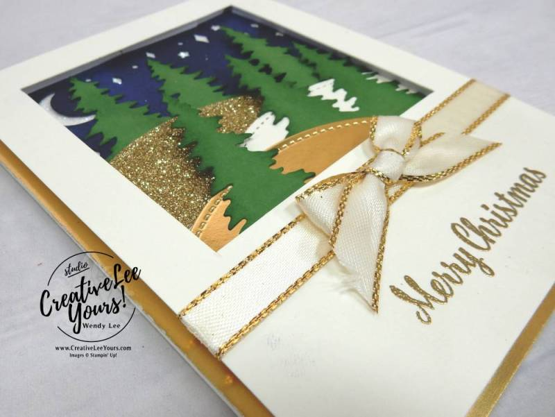 Christmas Spirit by Wendy Lee, stampin up,stamping, embossing, christmas card, card front builder, star of light stamp set, stitched shapes, #creativeleeyours, creatively yours,stamping, handmade