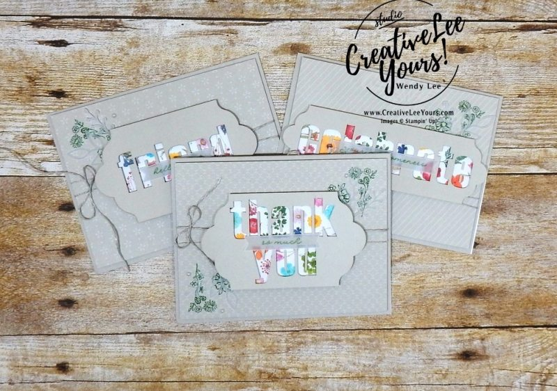 February 2018 wildflower wishes Paper Pumpkin Kit by wendy lee, stampin up, handmade cards, rubber stamps, stamping, kit, subscription, floral,spring cards, thank you, congrats, friend, #creativeleeyours,creatively yours,creative-lee yours,SU, SU cards,alternate
