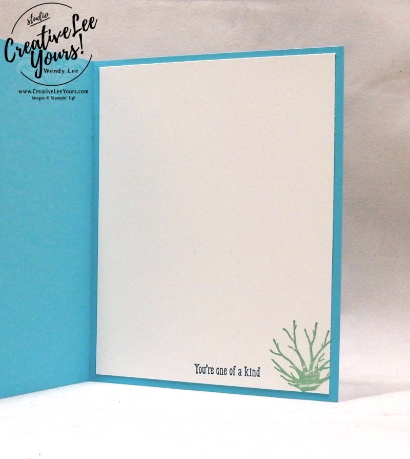 Thanks For Reaching Out by Wendy Lee,Stampin Up, stamping, handmade card, friend, thank you, birthday, #creativeleeyours, creatively yours, creative-lee yours, sea of textures stamp set, SU, SU cards, rubber stamps, buy 3, get 1 free promotion, masculine, sea creatures