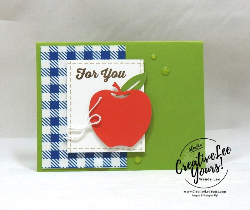 For You Teacher July 2018 picnic paradise Paper Pumpkin Kit by wendy lee, stampin up, handmade cards, rubber stamps, stamping, kit, subscription, #creativeleeyours, creatively yours, creative-lee yours, birthday, friend, thank you, congrats, alternate