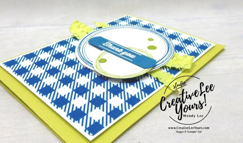 swirl frames stamp set, July 2018 picnic paradise Paper Pumpkin Kit,Thank You Swirls by wendy lee, stampin up, handmade cards, rubber stamps, stamping, kit, subscription, #creativeleeyours, creatively yours, creative-lee yours, birthday, friend, thank you, congrats, alternate, August 2018 FMN bonus card, forget me not, classes