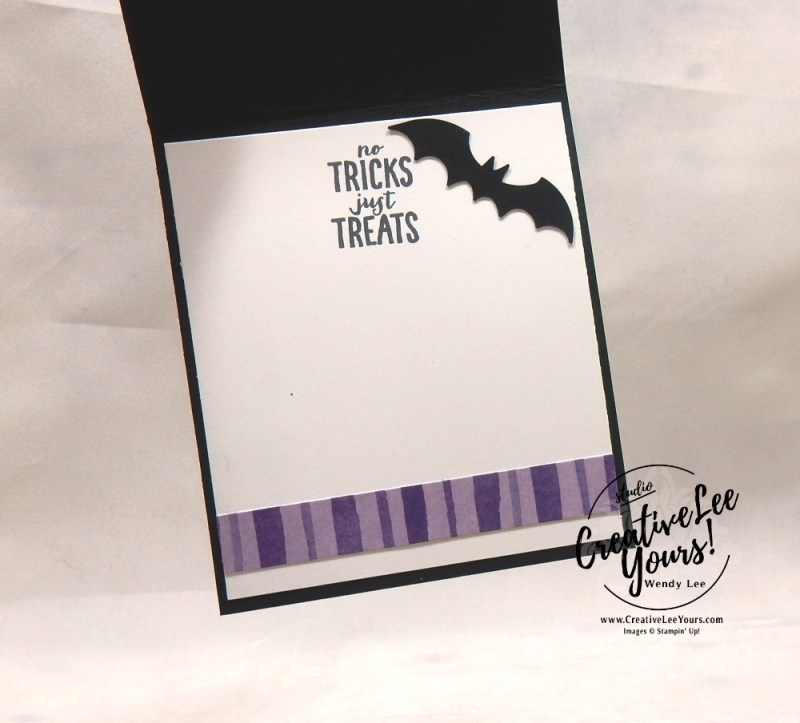 Happy Halloween by Aimee Smith, wendy lee, Stampin Up, stamping, handmade card, kids, #creativeleeyours, creatively yours, creative-lee yours, diemonds team swap, spooky sweets stamp set, cauldron bubble stamp set, SU, SU cards, rubber stamps, treats, toil & trouble, Trick or treat