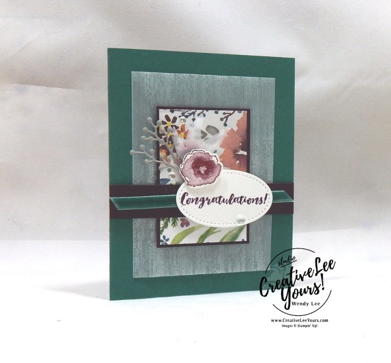 Frosted Floral Card Class by wendy lee, Stampin Up, #creativeleeyours, wendy lee, creatively yours, creative-lee yours, stamping, paper crafting, handmade, occasion cards, online class, SU, wedding, congratulations, holiday,Kylie's International Highlights Blog Hop