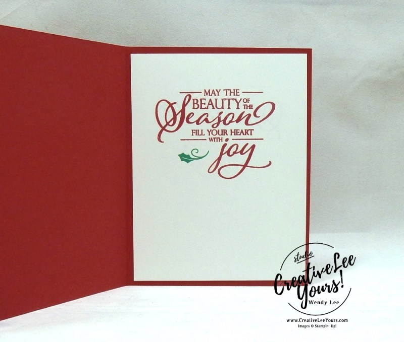 Merry & Bright by wendy lee, October 2018 FMN Class, Forget me not, Stampin Up, stamping, handmade card, holiday, christmas, #creativeleeyours, creatively yours, creative-lee yours, SU, SU cards, rubber stamps, paper crafting, Merry Christmas to All stamp set,Merry Christmas, Happy Holidays, Happy Christmas, DIY, card club