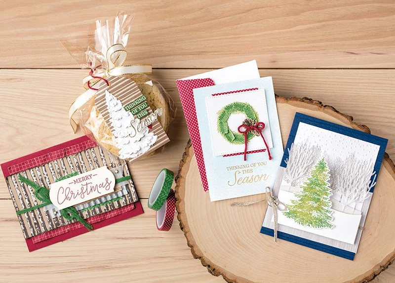 Winter Woods Bundle,Stampin' Up!, Video, Wendy Lee, stampin Up, #creativeleeyours, hand made, stamping, SU, creatively yours, creative-lee yours, product tips, paper crafting, DIY, fall, leaves, thanksgiving, winter, place cards, masculine, trees, lovely as a tree, rooted in nature