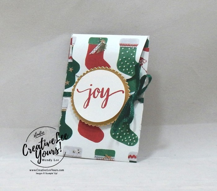 November 2017 Back in Plaid Paper Pumpkin Kit by wendy lee, stampin up, handmade cards, rubber stamps, stamping, kit, subscription, #creativeleeyours, creatively yours, creative-lee yours, holiday, christmas, alternate, bonus tutorial, fast & easy, DIY, masculine, October 2018 FMN class, card club, gift card holder