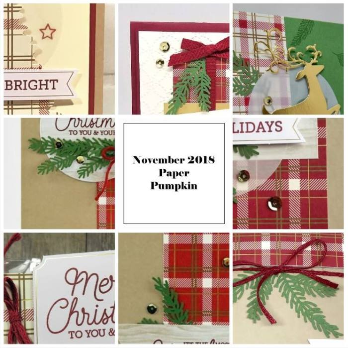 November 2018 To You and Yours Paper Pumpkin Kit by wendy lee, stampin up, handmade cards, rubber stamps, stamping, kit, subscription, #creativeleeyours, creatively yours, creative-lee yours, holiday, christmas, alternate, bonus tutorial, fast & easy, DIY, plaid, masculine, #simplestamping