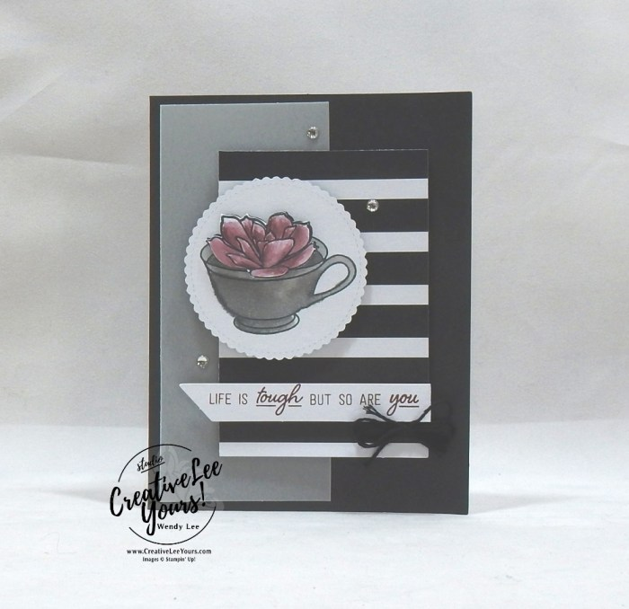 February 2019 Grown With Kindness Paper Pumpkin Kit by wendy lee, stampin up, handmade cards, rubber stamps, stamping, kit, subscription, #creativeleeyours, creatively yours, creative-lee yours, succulents, video, bonus tutorial, fast & easy, DIY, #simplestamping