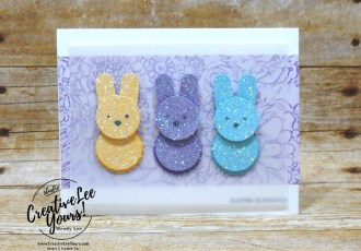 Easter Peeps by wendy lee, Stampin Up, stamping, handmade card, friend, thank you, birthday, thinking of you, Easter, bunnies, #creativeleeyours, creatively yours, creative-lee yours, SU, SU cards, rubber stamps, demonstrator, business, DIY, cling stamps, foxy friends stamp set, itty bitty greeting stamp set, part of my story stamp set, SAB, sale-a-bration, fast & easy, diemonds team, #simplestamping
