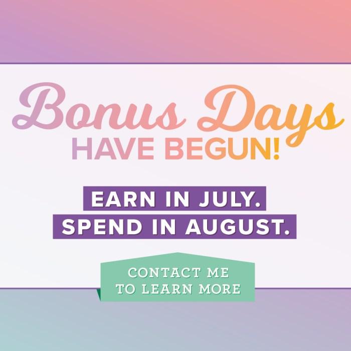 bonus days, stampin up, #creativeleeyours, wendy lee, creatively yours, creative-lee yours, rubber stamps, stamping, handmade cards, memory keeping, scrapbooking, SU, SU cards, promotion, $5 coupon