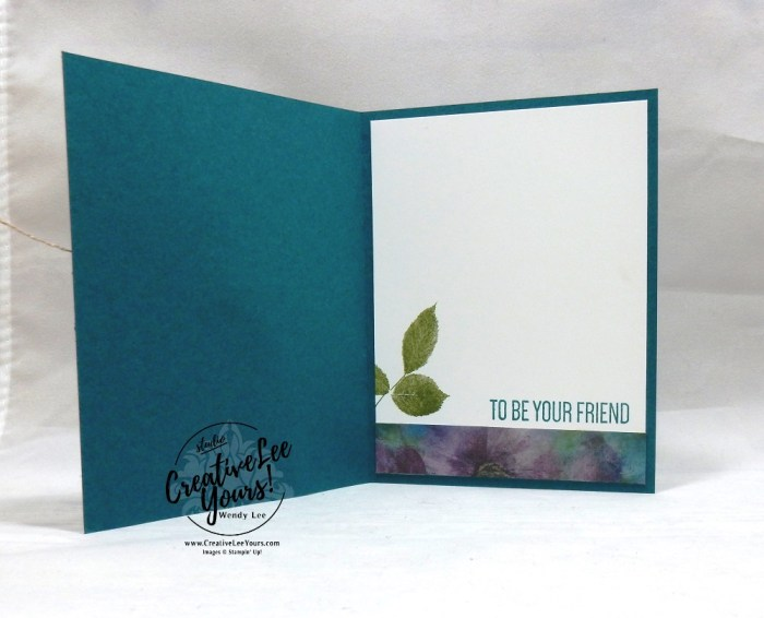 Blessed by wendy lee, Stampin Up, #creativeleeyours, creatively yours, creative-lee yours, stamping, paper crafting, handmade, all occasion cards, class, friend, to a wild rose stamp set, international highlights, kylie bertucci, card contest, encouragement, embossing, flowers, wild rose dies, DSP, patternpaper,watercoloring, perennial essence