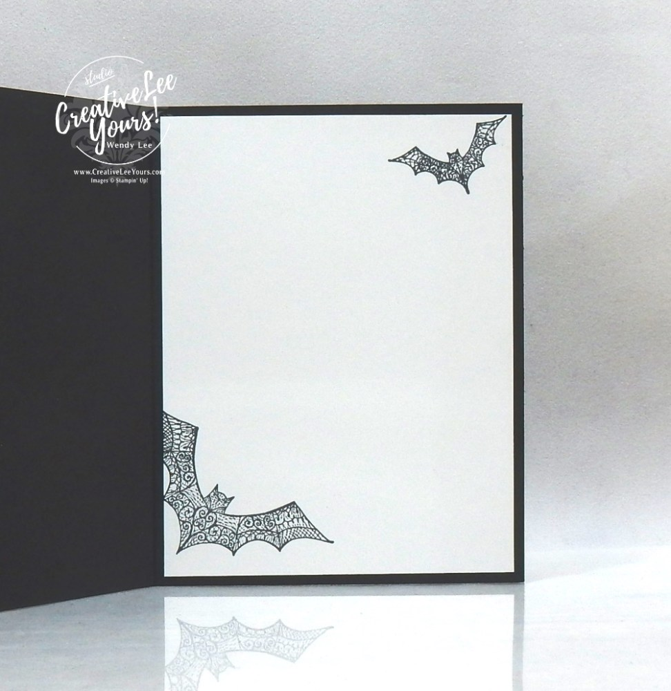 Happy Halloween by Wendy Lee, stampin up, stamping, SU, #creativeleeyours, creatively yours, creative-lee yours, #cardmaking #handmadecard #rubberstamps #stamping, friend, celebration, congratulations, thank you, hello, birthday, Halloween, bats, embossing, stamping, DIY, paper crafts, #papercrafting , #papercraftingsupplies, #papercraftingisfun , Hallows Night Magic stamp set, #makeacardsendacard ,#makeacardchangealife, stampers showcase blog hop, #simplestamping, masculine
