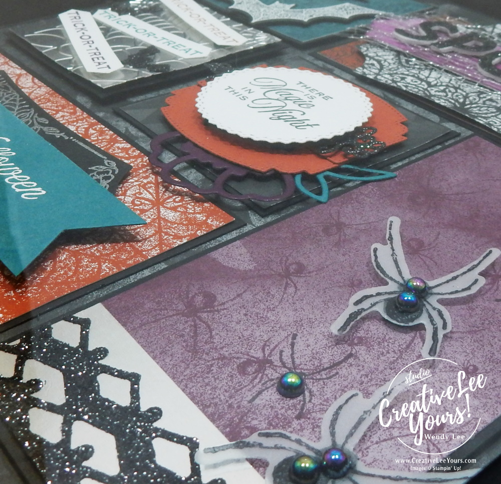 Magic in this night home decor by wendy lee, stampin up, stamping, SU, #creativeleeyours, creatively yours, creative-lee yours, ,#tutorial ,#tutorials ,#rubberstamps #stamping, friend, celebration, framed art, sampler, holiday, fall, winter, thank you, hello, birthday, Halloween, stamping, DIY, paper crafts, #papercrafting , #papercraftingsupplies, #papercraftingisfun , hallows night magic stamp set, 3D, framed art