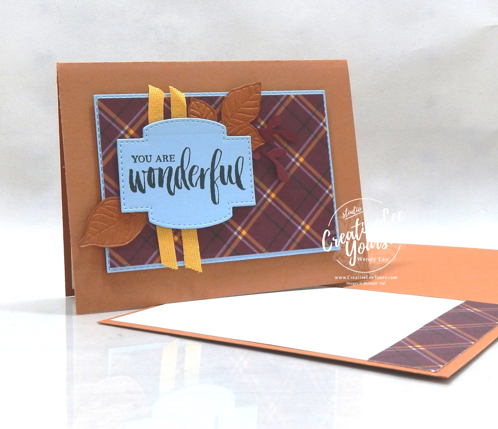 You Are Wonderful by Wendy Lee, in color club, stampin Up, SU, #creativeleeyours, handmade card, rooted in nature stamp set, friend, celebration, thank you, stamping, creatively yours, creative-lee yours, DIY, birthday, papercrafts, business opportunity, #makeacardsendacard ,#makeacardchangealife , rubberstamps, #stampinupdemonstrator , #cardmaking, #papercrafts , #papercraft , #papercrafting , #papercraftingsupplies, #papercraftingisfun, nature, leaves, kylie bertucci, international highlights, blog hop