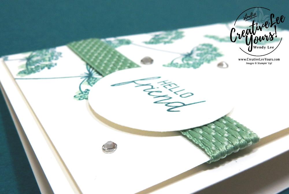 Hello Friend Note Card by Wendy Lee, queen annes lace stamp set, get and go, stampin Up, SU, #creativeleeyours, handmade card, friend, celebration, stamping, creatively yours, creative-lee yours, DIY, birthday, papercrafts, business opportunity, #makeacardsendacard ,#makeacardchangealife , #diemondsteam ,#businessopportunity, rubberstamps, #stampinupdemonstrator , #cardmaking, #papercrafts , #papercraft , #papercrafting , #papercraftingsupplies, #papercraftingisfun, flowers, tutorial bundle , 2 step stamping