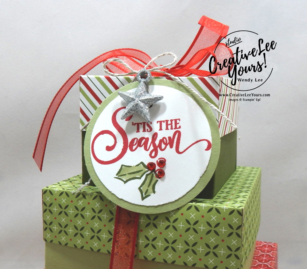 Tower of boxes by Wendy Lee, stampin up, stamping, SU, #creativeleeyours, creatively yours, creative-lee yours, #cardmaking #handmadecard #rubberstamps #stamping, friend, celebration, congratulations, thank you, hello, birthday, heartwarming hugs, holiday boxes, stamping, DIY, paper crafts, #papercrafting , #papercraftingsupplies, #papercraftingisfun , tag buffet stamp set, #makeacardsendacard ,#makeacardchangealife, #simplestamping, gift box, #diemondsteam, #businessopportunity