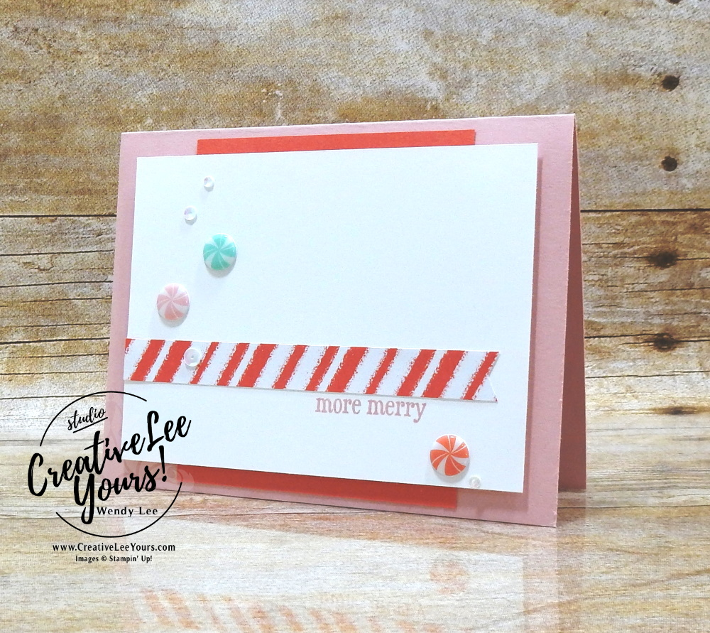 More Merry by Wendy Lee, November 2020 Paper Pumpkin Kit, Jolly Gingerbread, stampin up, handmade cards, gift card holder, candy embellishments, peppermint, rubber stamps, stamping, kit, subscription, #creativeleeyours, creatively yours, creative-lee yours, celebration, smile, thank you, birthday, Christmas, flowers, congrats, gingerbread, house, love, bonus tutorial, fast & easy, DIY, #simplestamping, card kit, subscription, craft kit, #paperpumpkinalternates , #paperpumpkinalternative ,#paperpumpkinalternatives, #papercraftingkit