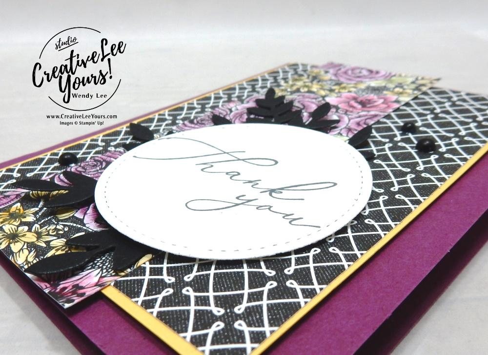Watercolor Thank You by Wendy Lee, Heal Your Heart Stamp Set, stampin Up, SU, #creativeleeyours, handmade card, friend, celebration, thank you, stamping, creatively yours, creative-lee yours, DIY, birthday, papercrafts, #makeacardsendacard ,#makeacardchangealife , rubberstamps, #stampinupdemonstrator , #cardmaking, #papercrafts , #papercraft , #papercrafting , #papercraftingsupplies, #papercraftingisfun, true love, kylie bertucci, international highlights, blog hop, watercolor pencils, flourish dies, blender pen