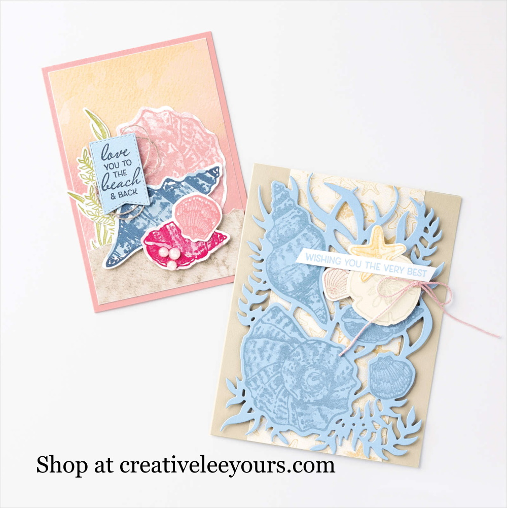 Sand and Sea Suite with Wendy lee, Stampin' Up! Video, Stampin Up, #creativeleeyours, creatively yours, #stampinupdemonstrator ,#cardmaking #handmadecard, #stamping, SU, SUO, creative-lee yours, #DIY, #papercrafts , #papercraft , #papercrafting , video, #makeacardsendacard ,#makeacardchangealife, #papercraftingsupplies, #papercraftingisfun, #simplestamping, comparison, Friends Are Like Seashells Stamp Set, Seaside Seashell Dies, Pearlescent Specialty Paper