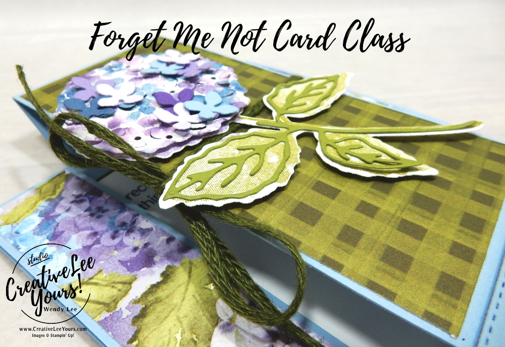 Center Step Fun Fold by wendy lee, Hydrangea Haven stamp set, stampin up, stamping, SU, #creativeleeyours, creatively yours, creative-lee yours, #cardmaking, #handmadecard, #rubberstamps #stamping, friend, thinking of you, sympathy, spring, thank you, birthday, love, anniversary, stamping, DIY, paper crafts, #papercrafting , #papercraftingsupplies, #papercraftingisfun , FMN, forget me not, ,#cardclub ,#cardclasses ,#onlinecardclasses , tutorial ,#tutorials , ,#funfoldcards ,#funfoldcard ,#makeacardsendacard ,#makeacardchangealife, #technique ,#techniques, hydrangea hill