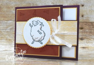 Birthday Fun Fold by Wendy Lee, #creativeleeyours , #stampinup , #su , #stampinupdemonstrator , #cardmaking, #handmadecard, #rubberstamps, #stamping, #DIY, #papercrafts , #papercraft , #papercrafting , #papercraftingsupplies, #papercraftingisfun, #papercraftingideas, #makeacardsendacard ,#makeacardchangealife , Counting Sheep stamp set, layering circles, friend, thinking of you, support, birthday, watercolor pencils ,#tutorial ,#tutorials ,#technique ,#techniques, Fun Fold, Hand Penned,#SAB, #saleabration