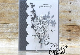 Happy Anniversary by Sheila Tatum, Wendy Lee, Color & Contour stamp set, Elegantly Said stamp set, stampin up, stamping, SU, #creativeleeyours, creatively yours, creative-lee yours, #cardmaking #handmadecard #rubberstamps #stamping, friend, celebration, congratulations, anniversary, wedding, thank you, hello, birthday, warm wishes, stamping, DIY, paper crafts, #papercrafting , #papercraftingsupplies, #papercraftingisfun , #makeacardsendacard ,#makeacardchangealife, #diemondsteam, #businessopportunity, #diemondsteamswap, meadow