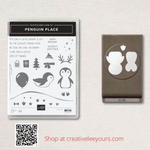 Penguin Party card class with Wendy Lee, stampin Up, SU, #creativeleeyours, handmade card, friend, celebration , birthday, congrats, Christmas, baby, love, penguins, polar bears, foxes, 2 step stamping, stamping, creatively yours, creative-lee yours, DIY, papercrafts, rubberstamps, #stampinupdemonstrator , #papercrafts , #papercraft , #papercrafting , #papercraftingsupplies, #papercraftingisfun, Penguin Place stamp set, #tutorial ,#tutorials, video, thank you,#cardclasses ,#onlinecardclasses #simplestamping
