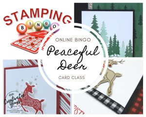 Peaceful Deer card class, Peaceful Deer stamp set, Deer builder punch, Stampin' Up! , wendy lee, Stampin Up, #creativeleeyours, creatively yours, #stampinupdemonstrator ,#cardmaking #handmadecard #rubberstamps #stamping, SU, SUO, creative-lee yours, #DIY, #papercrafts , #papercraft , #papercrafting , fellowship, friend, birthday, celebration, hello, thank you, Christmas, Holiday cards, #makeacardsendacard ,#makeacardchangealife, #papercraftingsupplies, #papercraftingisfun, online bingo, onlinecardclass