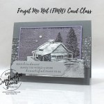 Black Ice Cabin by wendy lee, Peaceful Cabin stamp set, black ice technique, winter, gratitude, stampin up, stamping, SU, #creativeleeyours, creatively yours, creative-lee yours, #cardmaking, #handmadecard, #rubberstamps #stamping, friend, thinking of you, sympathy, thank you, birthday, stamping, DIY, paper crafts, welcome, #papercrafting , #papercraftingsupplies, #papercraftingisfun , FMN, forget me not, ,#cardclub ,#cardclasses ,#onlinecardclasses , tutorial ,#tutorials ,#funfoldcards ,#funfoldcard ,#makeacardsendacard ,#makeacardchangealife, stamping on foil, heat embossing