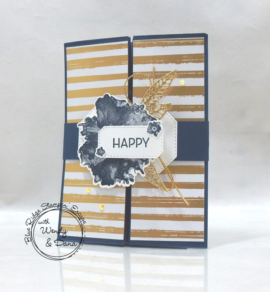 Gatefold Box Card by Wendy Lee, Artistically inked Blue Ridge Stampin' Escape, retreat, class, online, getaway, stamping, SU, creativeleeyours, creative-lee yours, creatively yours, DIY, handmade, rubber stamps, bundle, tutorial, #patternpaper, virtual class, bundle, class kit, Artistically Inked Stamp Set, Expressions in ink, papercrafts, 3D, treats, cards, tags, birthday, thank you, friend, party, #simplestamping, #kit, #craftkit, #craftkits, #cardclass, ,#cardclasses ,#onlinecardclasses ,#funfoldcards ,#funfoldcard ,#tutorial ,#tutorials ,#technique ,#techniques,#blueridgestampinescape, kit