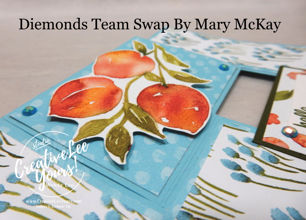 Impossible Fun Fold Peaches by Mary McKay, Wendy Lee, Sweet As A Peach stamp set, stampin up, stamping, SU, #creativeleeyours, creatively yours, creative-lee yours, #cardmaking #handmadecard #rubberstamps #stamping, friend, celebration, congratulations, anniversary, wedding, thank you, hello, birthday, warm wishes, stamping, DIY, paper crafts, #papercrafting , #papercraftingsupplies, #papercraftingisfun , #makeacardsendacard ,#makeacardchangealife, #diemondsteam, #businessopportunity, #diemondsteamswap, #funfoldcards, #impossiblecard, youre a peach