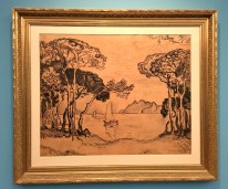 Juan-les-Pins-Soir-1914-Preparatory-ink-drawing