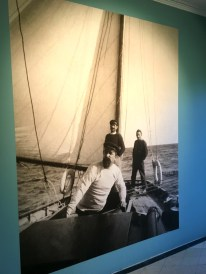 Signac at the helm of a sailboat